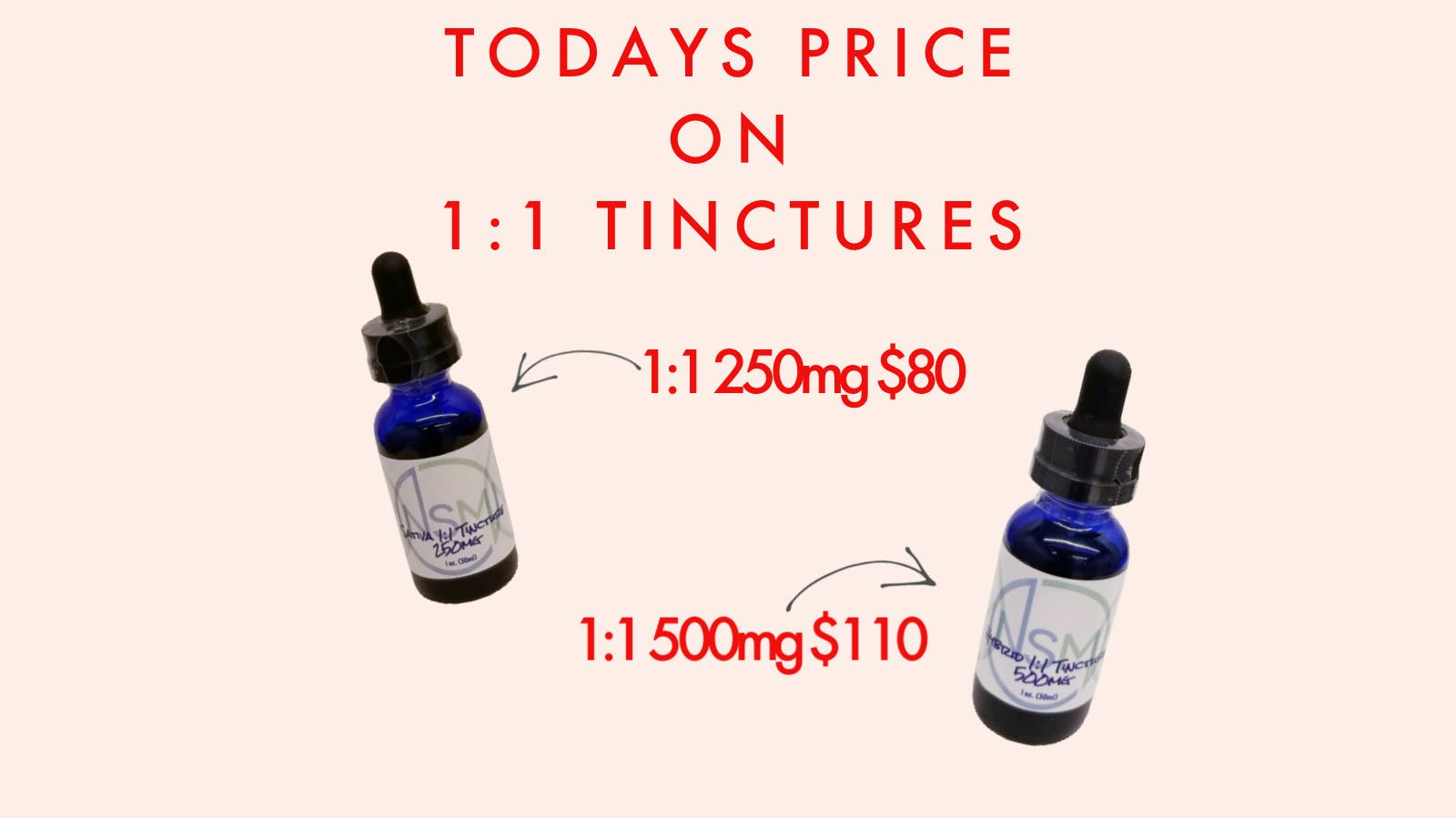 1:1 250mg TINCTURES & 1:1 500mg TINCTURES