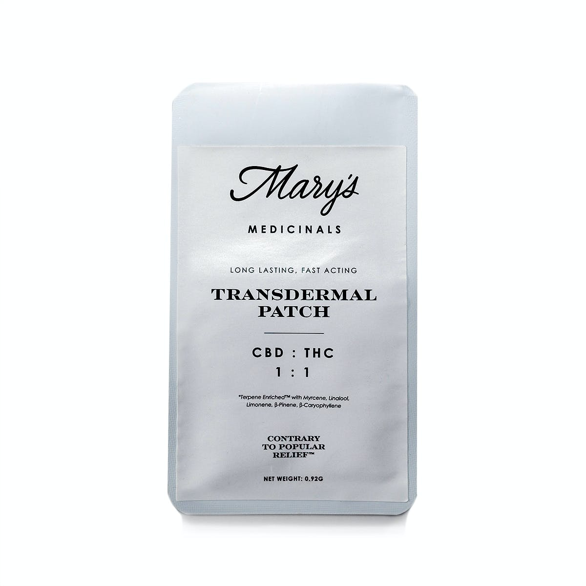 Transdermal Patch 1:1 CBD/THC