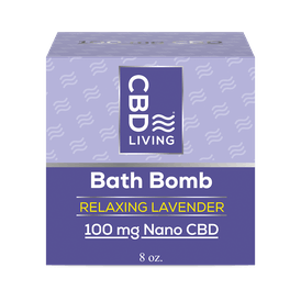 CBD Living Bath Bomb 100mg Lavender