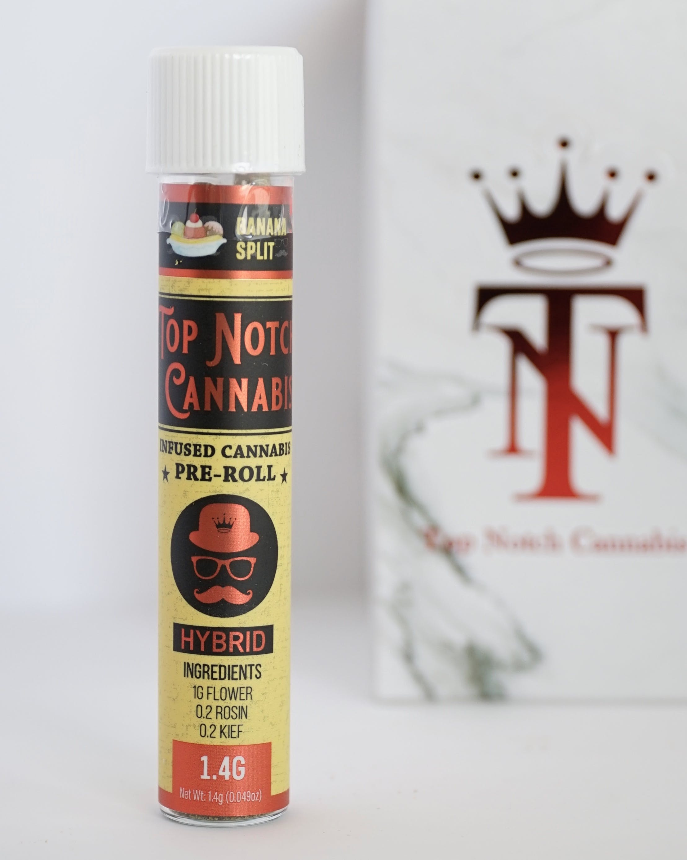 Top Notch - Infused Preroll - Banana Split