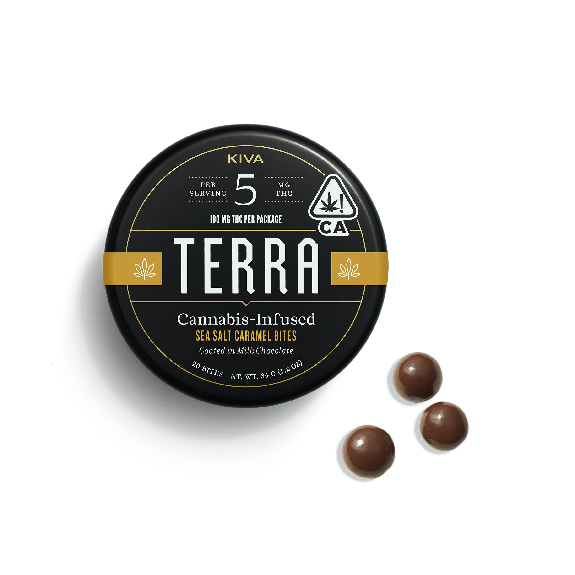 Terra Sea Salt Caramel Bites - 100mg