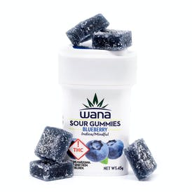 Wana Sour Gummies: Blueberry Indica