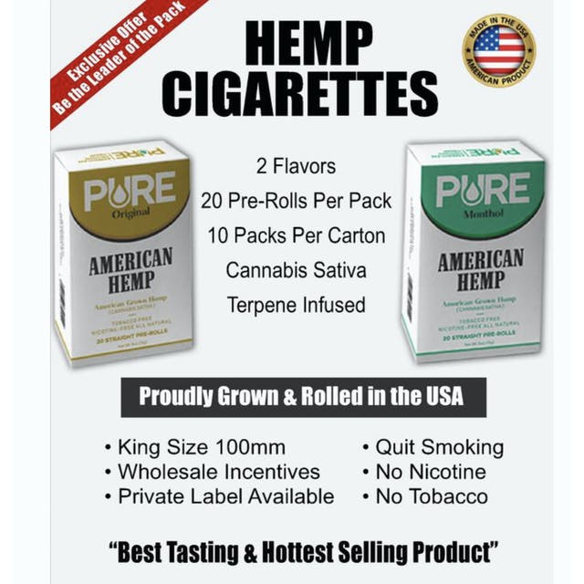 The first ever All hemp CBD Cigarettes