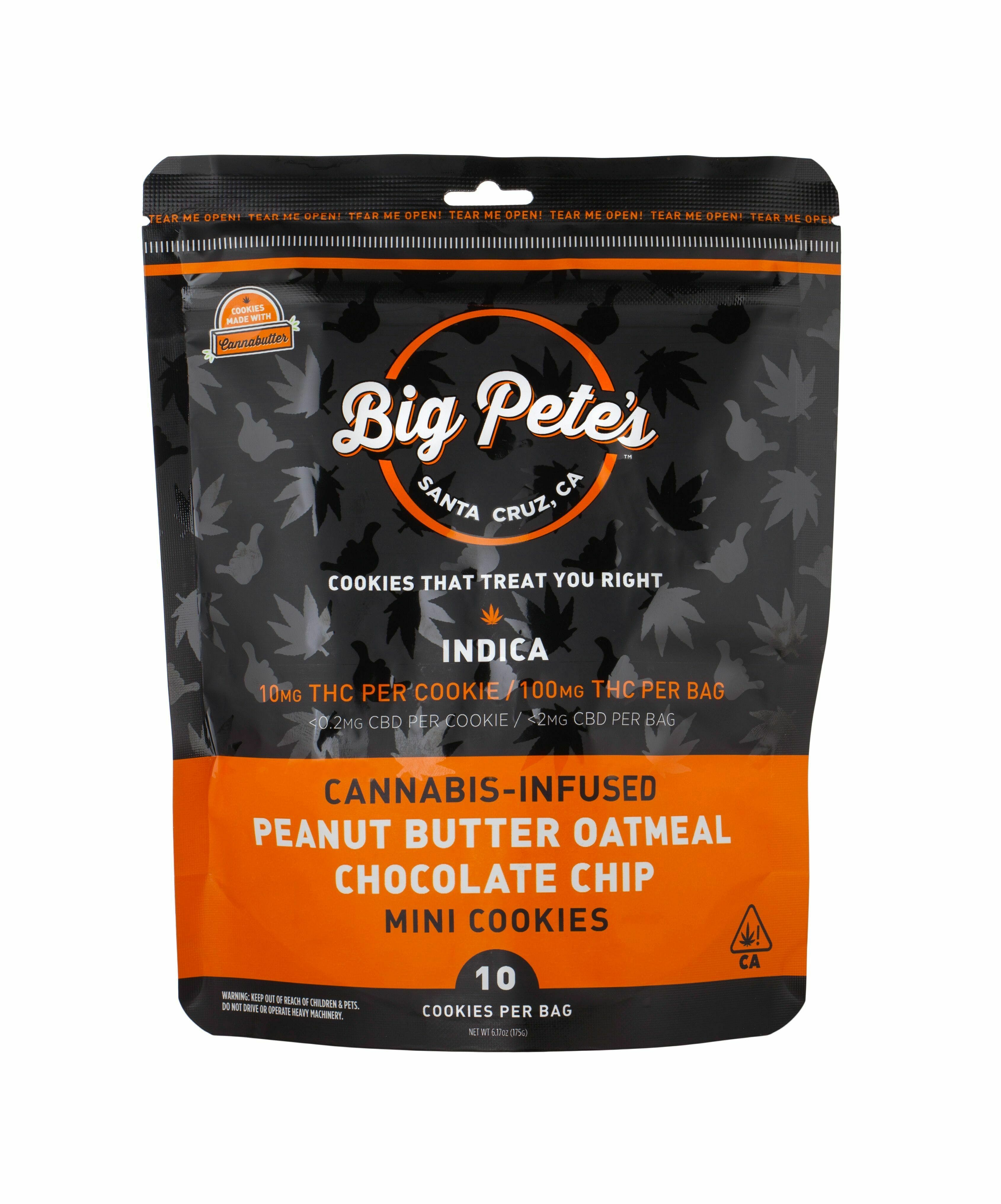 Peanut Butter Oatmeal Cookies Indica 100mg (10pk)