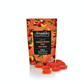 Peach Fruit Chews - 100 mg THC - OK