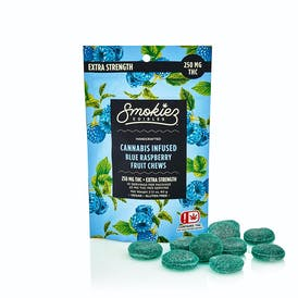 Blue Raspberry Fruit Chews - 250 mg THC - OK