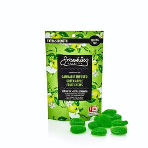 Green Apple Fruit Chews - 250 mg THC - OK