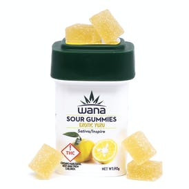 Exotic Yuzu Sativa/Inspire High Dose Sour Gummies