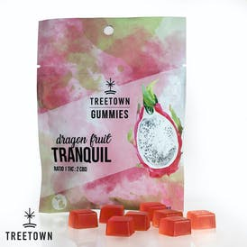 Tranquil Dragonfruit Gummies - 1 THC : 2 CBD