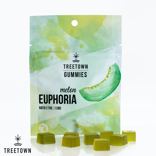 Euphoria Melon Gummies - 2 THC : 1 CBD